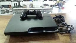 Ps3 Play 3 Slim 250gb Com 5 Jogos Top e 2 Controle