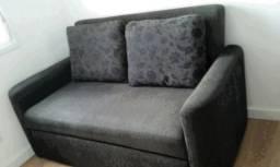 Sofá cama de tecido verde musgo