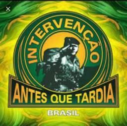 Para um Brasil melhor eu apoio INTERVENÇÃO