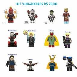 Kit Vingadores 12 Personagens Lego Compatível
