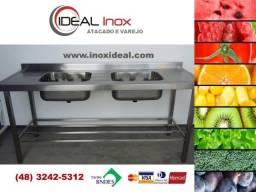 Pia Inox AISI 430 medida 1,90mt de comprimento - Produto novo