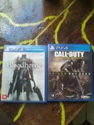 Jogos ps4 Cod e bloodborne