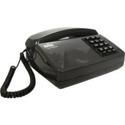 Telefone Unitel Padrão Tradicional sem chave c/ Fio Grafite