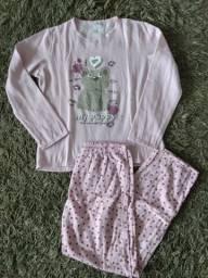 Pijama novo peluciado tam G bem quentinho