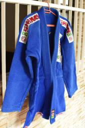 Kimono Jiu Jitsu Shiroi Standart Azul A1