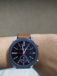 Impecável!!!* Smart watch Amazfit GTR 47mm Aço Inoxidável