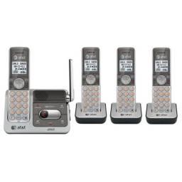 Telefone Sem Fio Base + 3 Ramais At&t Cl82401 Viva Voz Hd - Praticamente Novo!