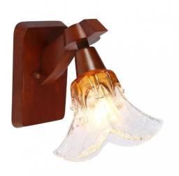 Arandela para 1 lâmpada, madeira Ômega Country ld