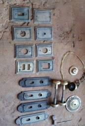 Espelho para tomada e fechadura de bronze