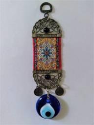 Amuleto Pingente De Porta Olho Turco / Grego Contra Inveja Aceito CC