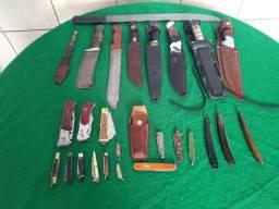 Coleção de Facas,Laminas e Canivetes