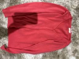 Casaquinho tricô P usado uma vez