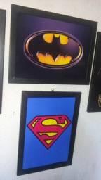 Quadros Batman e Super Man