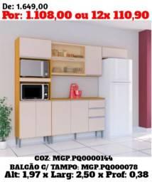 I Moveis-Cozinha Compacta C/ Balcão - Pagamento e Entrega Na Sua Casa