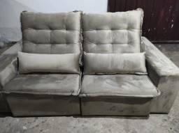 Título do anúncio: Sofá retrátil e reclinável na cor bege tecido jolly inca luxo/frete grátis BH