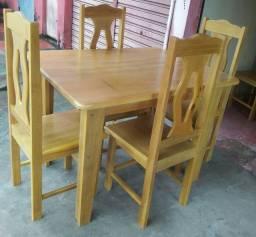 Conjunto de mesa tatajuba com 6 cadeira ( do modelo da foto)  direto da fábrica
