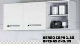Armário Aéreo Copa. Entrega e montagem grátis em toda Macaé.