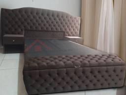 Kit cabeceira baú cama box