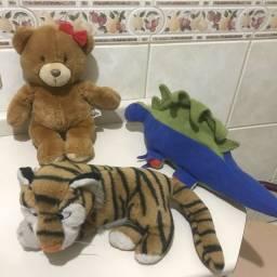 Urso de Pelúcia + brinde tigre e dinossauro brinquedo crianças