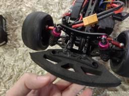 Automodelo elétrico brushless chassis Fibra de carbono
