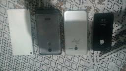 Vendo esses 4 celulares para ajeitar ou tirar peças.