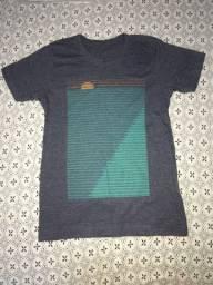 Camisa manga curta infantil 10 anos