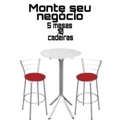 Título do anúncio: Vendo 5 mesas e 10 cadeiras  Lanchonete e restaurantes etc