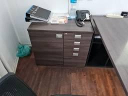 armario gaveteiro 4 gavetas + prateleira marelli com chaves 80*50*73 cm
