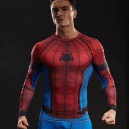 Camiseta Spandex Spiderman XL