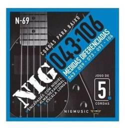Título do anúncio: Cordas p/ baixo 5 cordas NIG