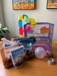 Kit completo de Hamster/Rato (Gaiola etc)