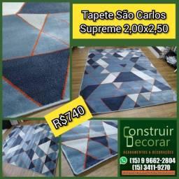 Tapete São Carlos Supreme Onze 2,00x2,50 - Novo