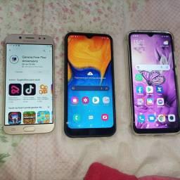 Título do anúncio: Samsung j5pro, A20 e Xiaomi redmi9A tudo funcionando e intacto apenas marcas de uso