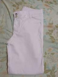Calça branca com elastano Tam 50