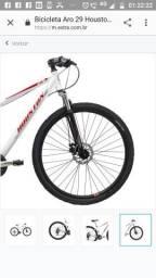 Mountain bike aro 29 aero, cambio Shimano freio a disco