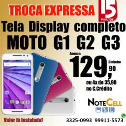 Tela para Moto G1 G2 G3 G4 G5 G5S G6 E1 E2 E4 E4plus A.P.129,90 Já Instalado!