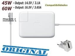 Fonte Original Carregador Apple Macbook Magsafe 1 e 2, 45W, 60W, 85W