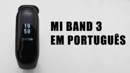 Mi Band 3 Relógio Smartwatch Monitor Cardíaco Xiaomi Cartao 3x58/5x36 100% Português