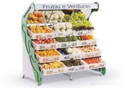 Fruteiras com 6 ou 10 ou 12 caixas para comercio vasca expositora de frutas e legumes