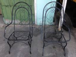 Trio de Cadeiras de ferro para varanda