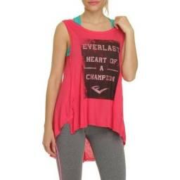 Camiseta Regata Everlast Feminino Champion Tam. P, M - Novo