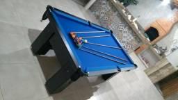 Mesa Charme MDF Cor Preta Tecido Azul Mod. QAMV5335
