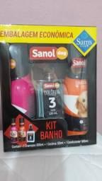 Kit de Banho 3 itens cachorro Sanol lacrado