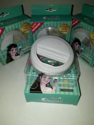 Clipe Led Luz Selfie p/ celular - Branco (Mini Ring Light)