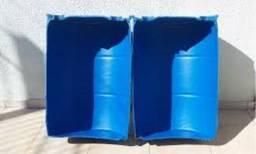 JR Tambores Cocho Plástico 100 Litros - Bebedouro, Comedouro, Plantações
