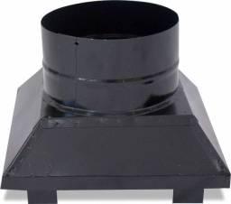 Adaptador para churrasqueira 460x560x400mm preto - arteinoxx