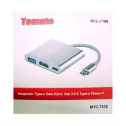 Adaptador Tipo C para HDMI USB 3.0 Tomate MTC-7106<br>