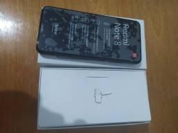 Celular redmi note 8 e um relógio smartwatch