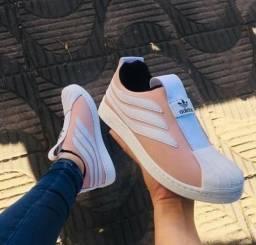 Tênis Adidas sobakov preto, branco e nude (UNISSEX - PROMOÇÃO)