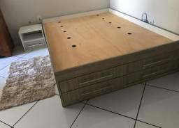 Suporte de cama planejado mais mesinha planejado nova